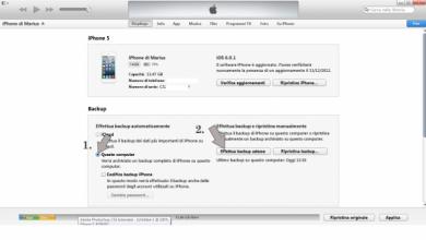 Photo of Come fare il backup del iPhone con iTunes?