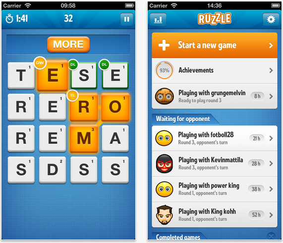 Ruzzle Iphone App