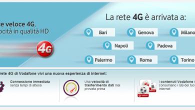 Photo of Rete 4G LTE – Ora in 21 città grazie alla Vodafone