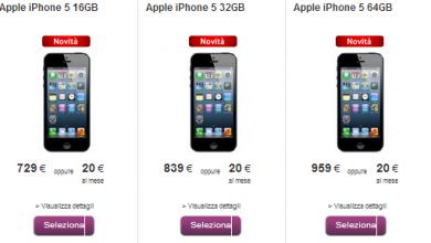 Photo of Offerte e promozioni iPhone 5 Vodafone