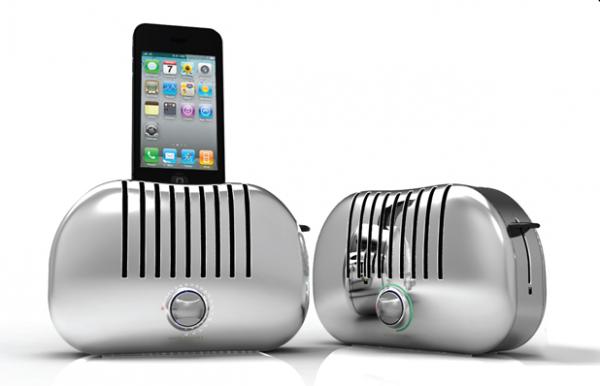 iPhone Dock Station in formato tostapane