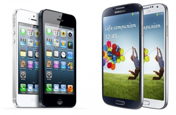 Samsung S4 e iPhone 5