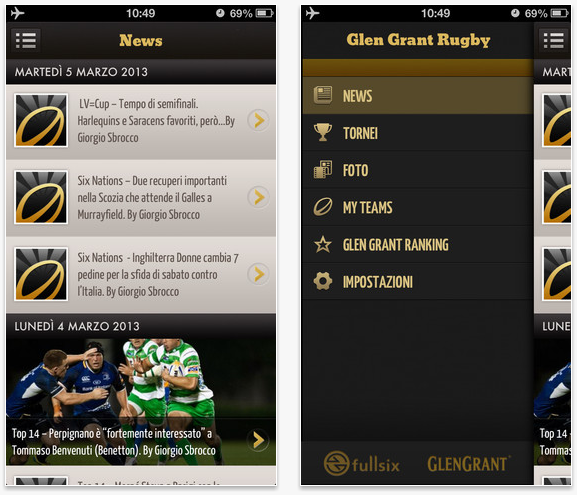 GG Rugby - App iPhone
