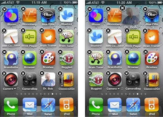 spostare app iphone
